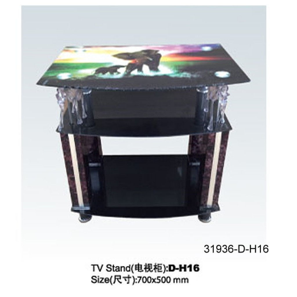 31936-D-H16 3 Tier Glass TV Stand