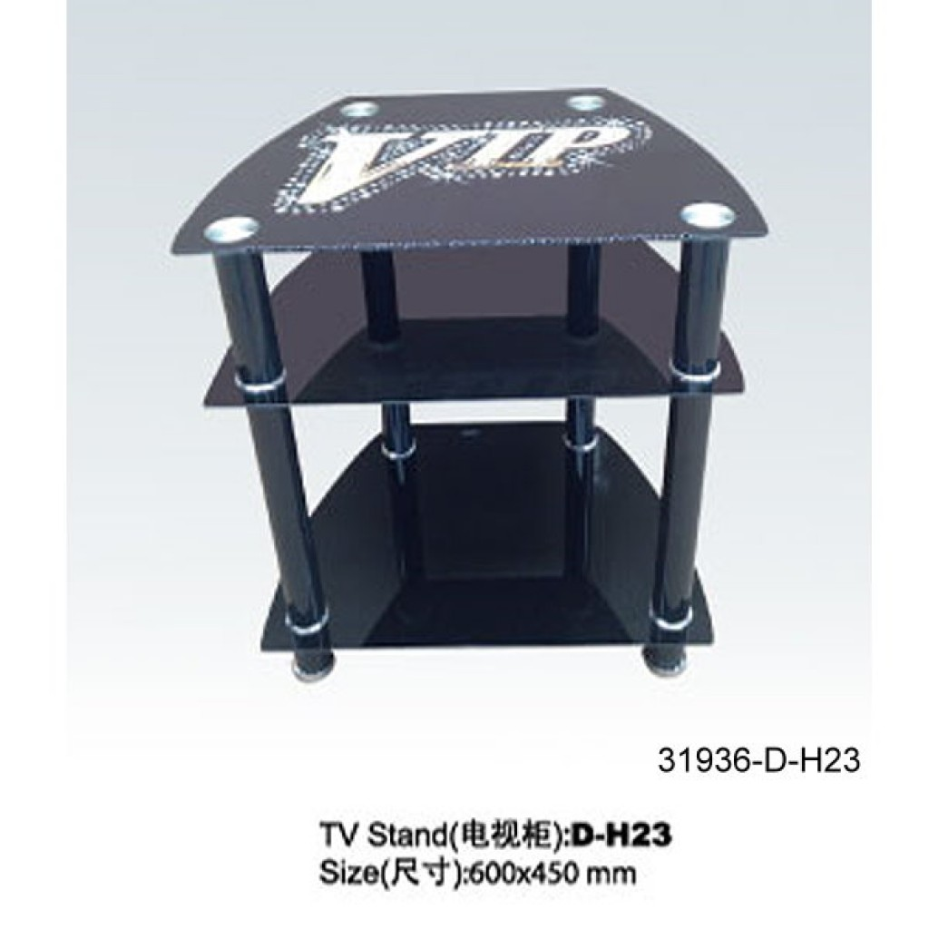 31936-D-H23 3 Tier Glass TV Stand