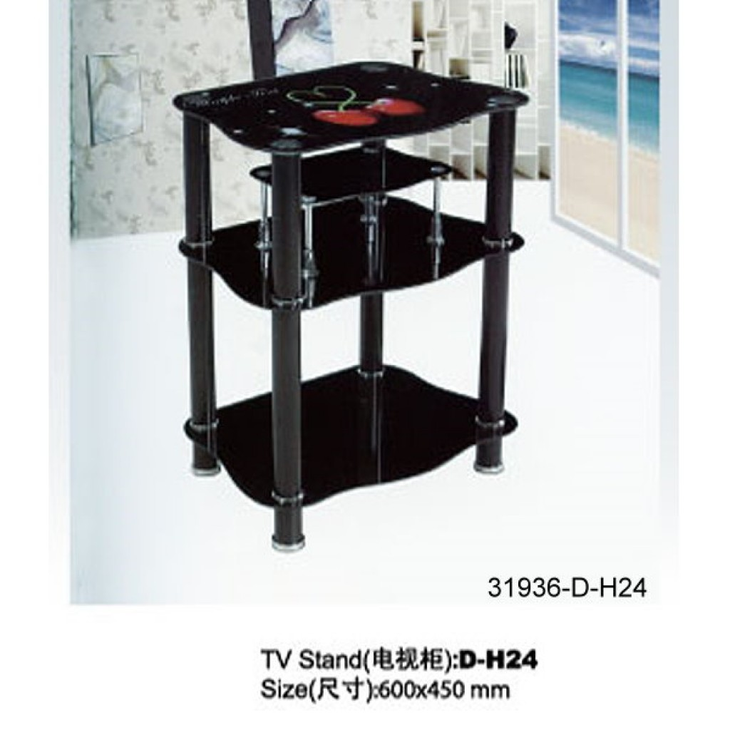31936-D-H24 3 Tier Glass TV Stand