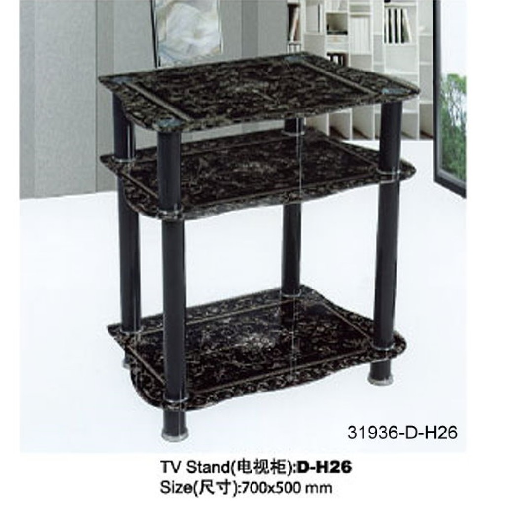 31936-D-H26 3 Tier Glass TV Stand