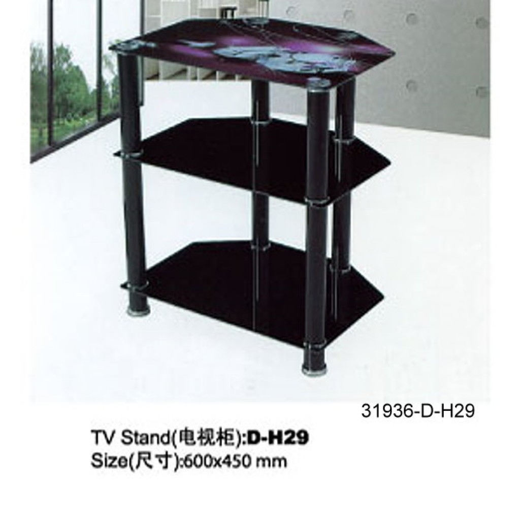 31936-D-H29 3 Tier Glass TV Stand
