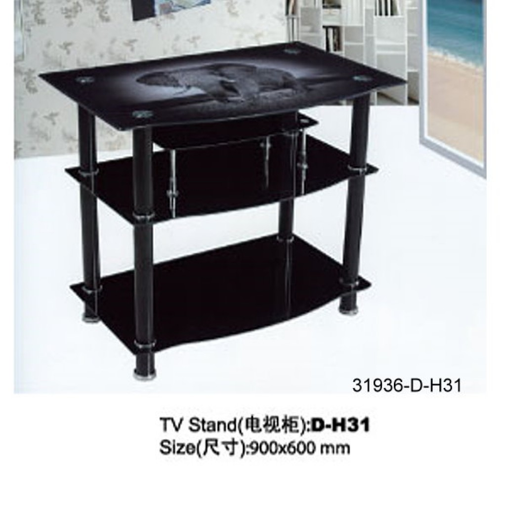 31936-D-H31 3 Tier Glass TV Stand