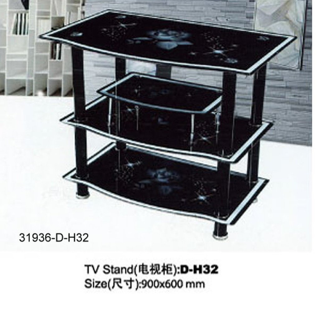 31936-D-H32  3 Tier Glass TV Stand
