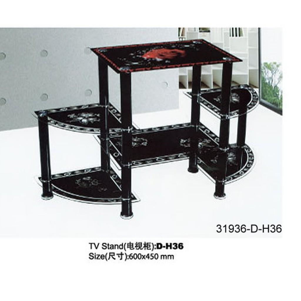 31936-D-H36 3 Tier Glass TV Stand