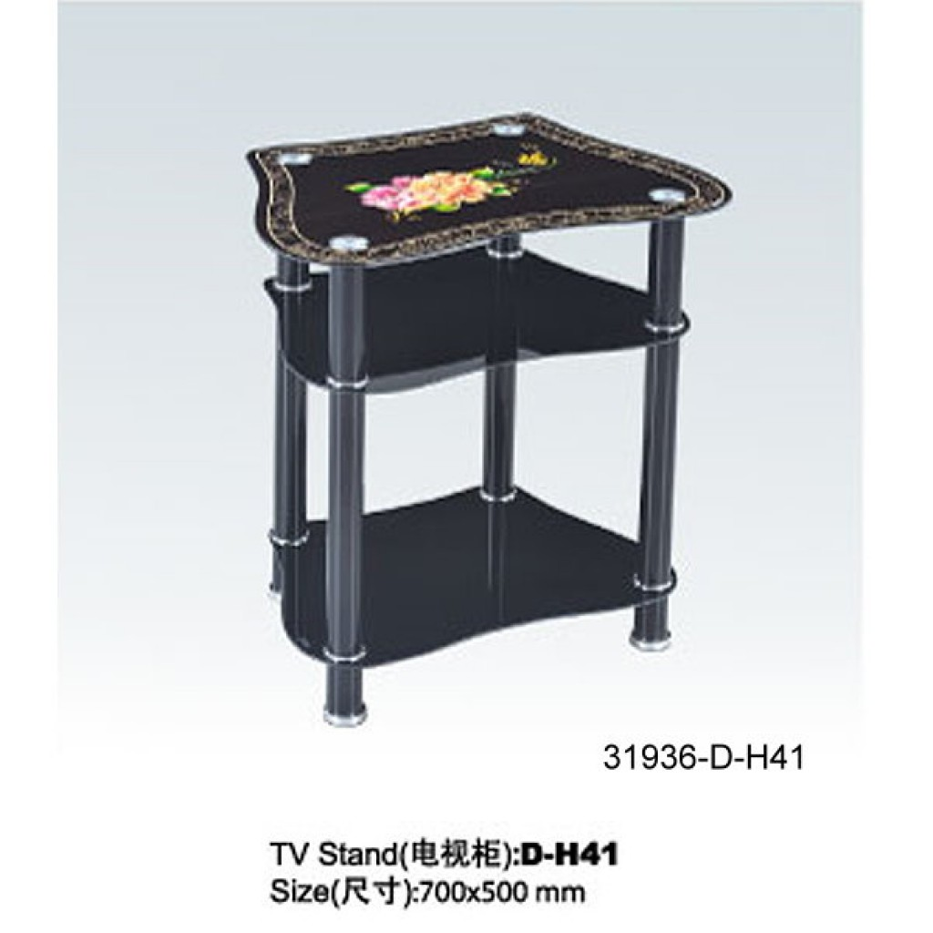 31936-D-H41 3 Tier Glass TV Stand