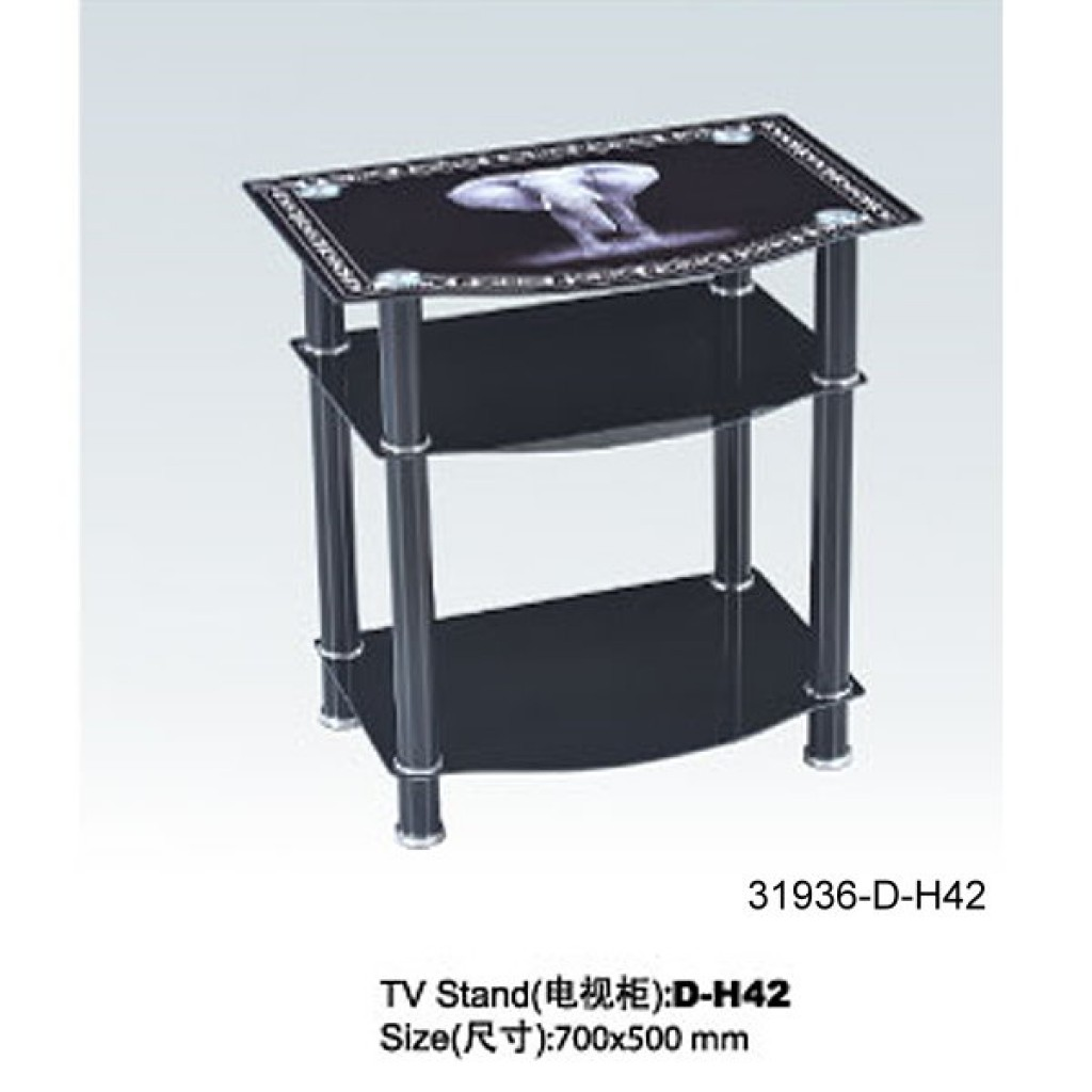 31936-D-H42  3 Tier Glass TV Stand
