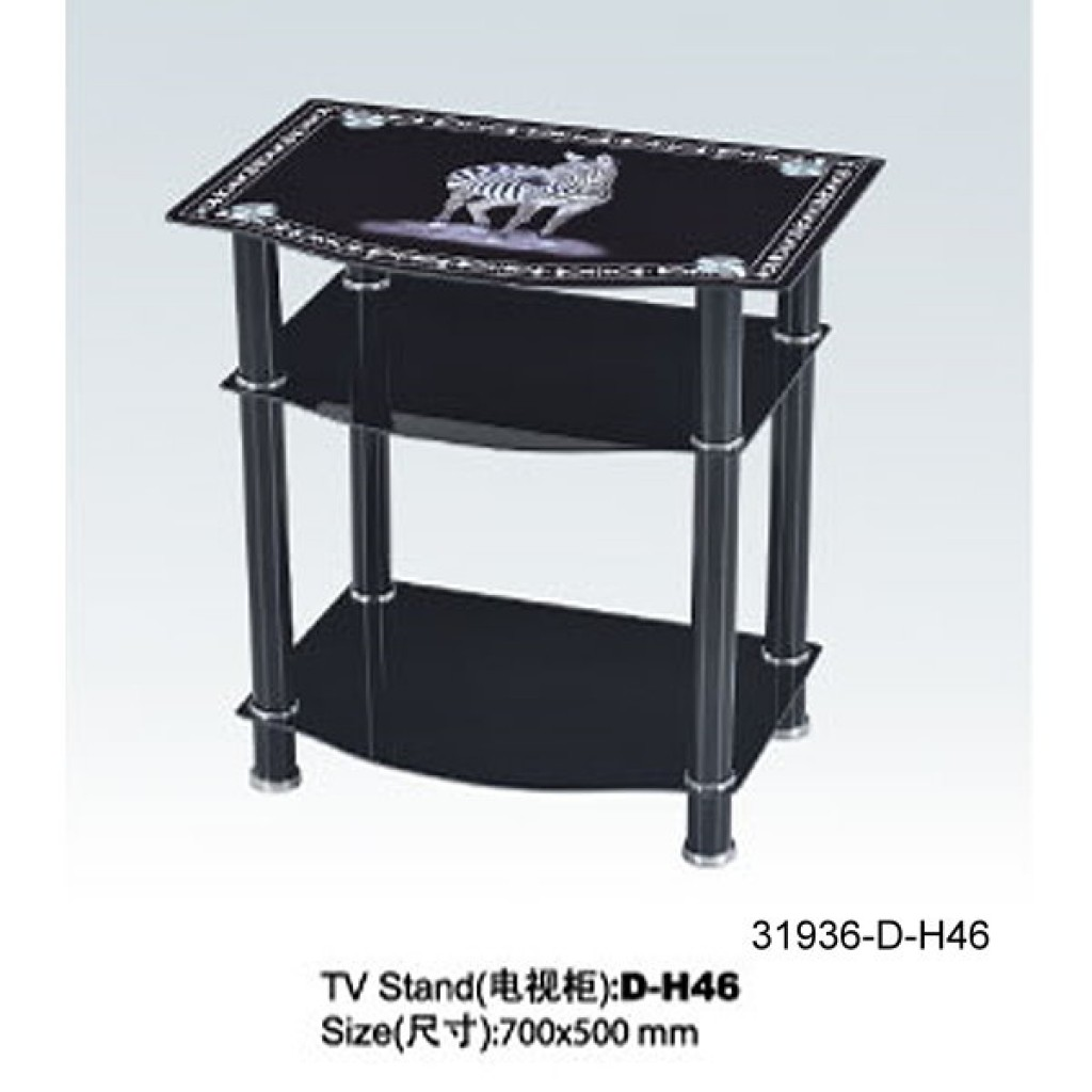 31936-D-H46 3 Tier Glass TV Stand