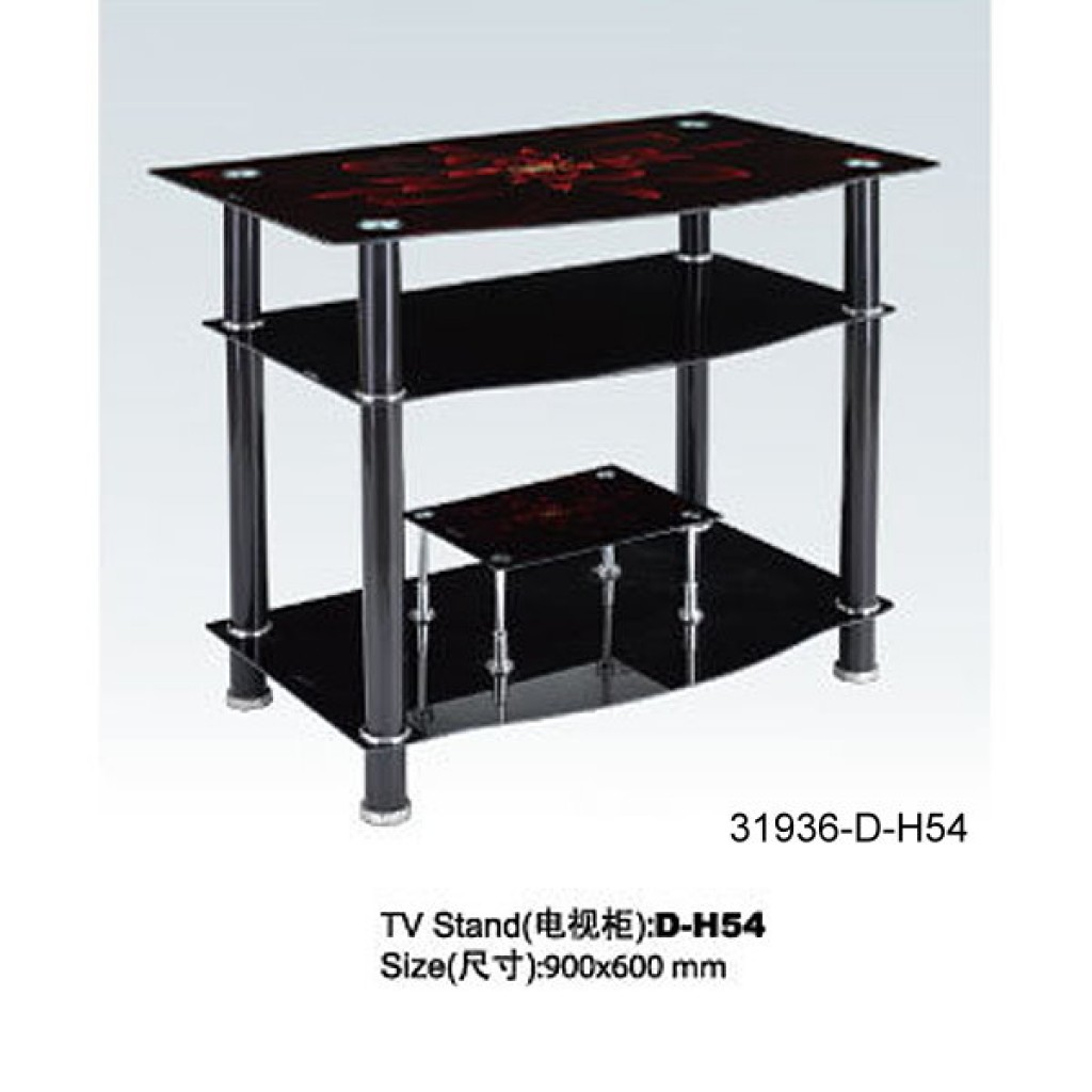 31936-D-H54 3 Tier Glass TV Stand