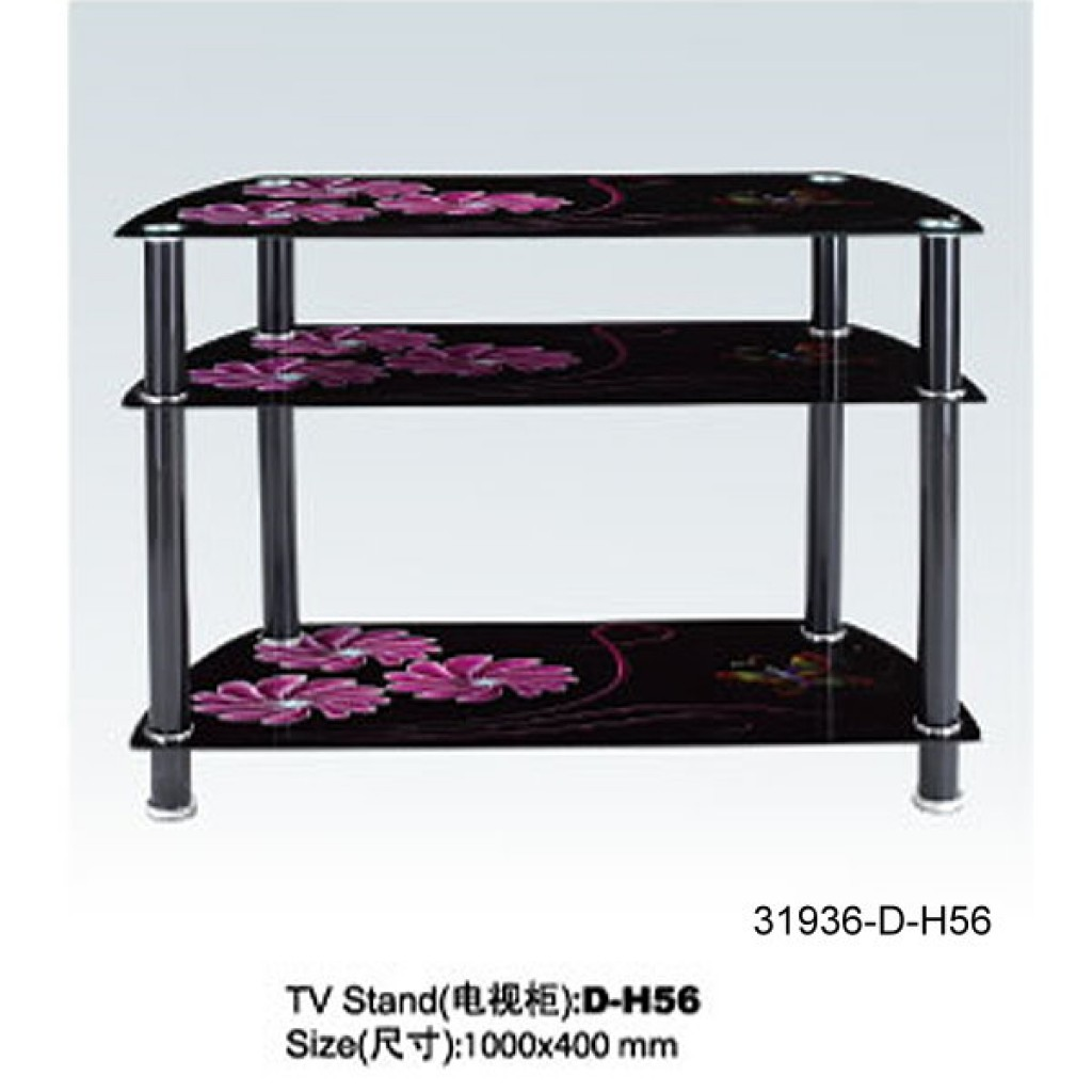 31936-D-H56 3 Tier Glass TV Stand