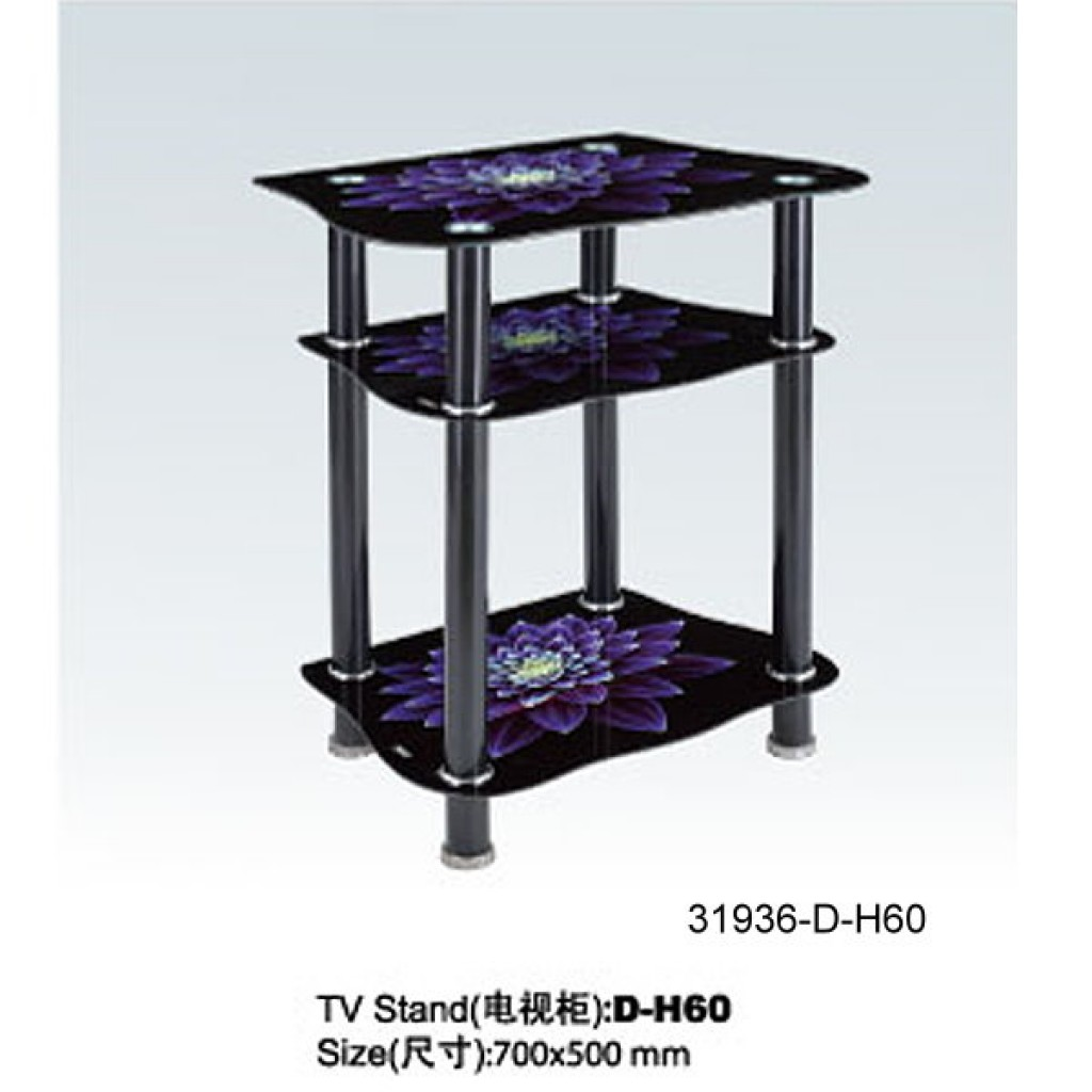 31936-D-H60 3 Tier Glass TV Stand