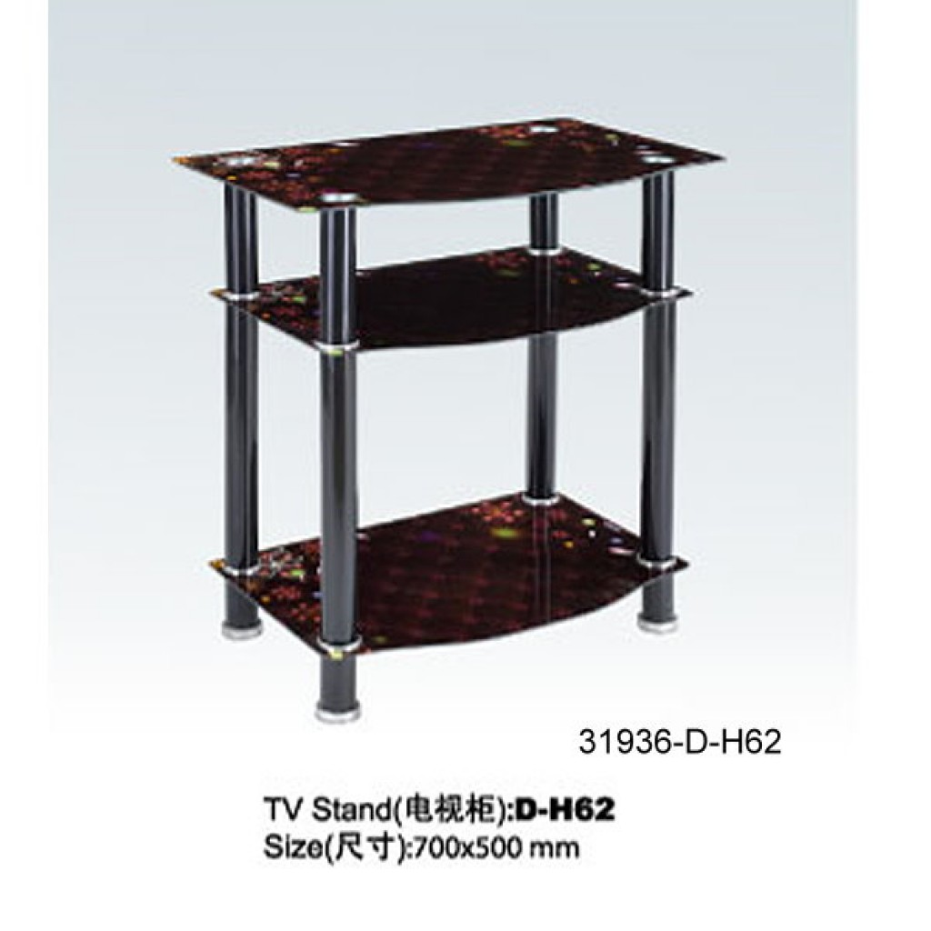 31936-D-H62  3 Tier Glass TV Stand