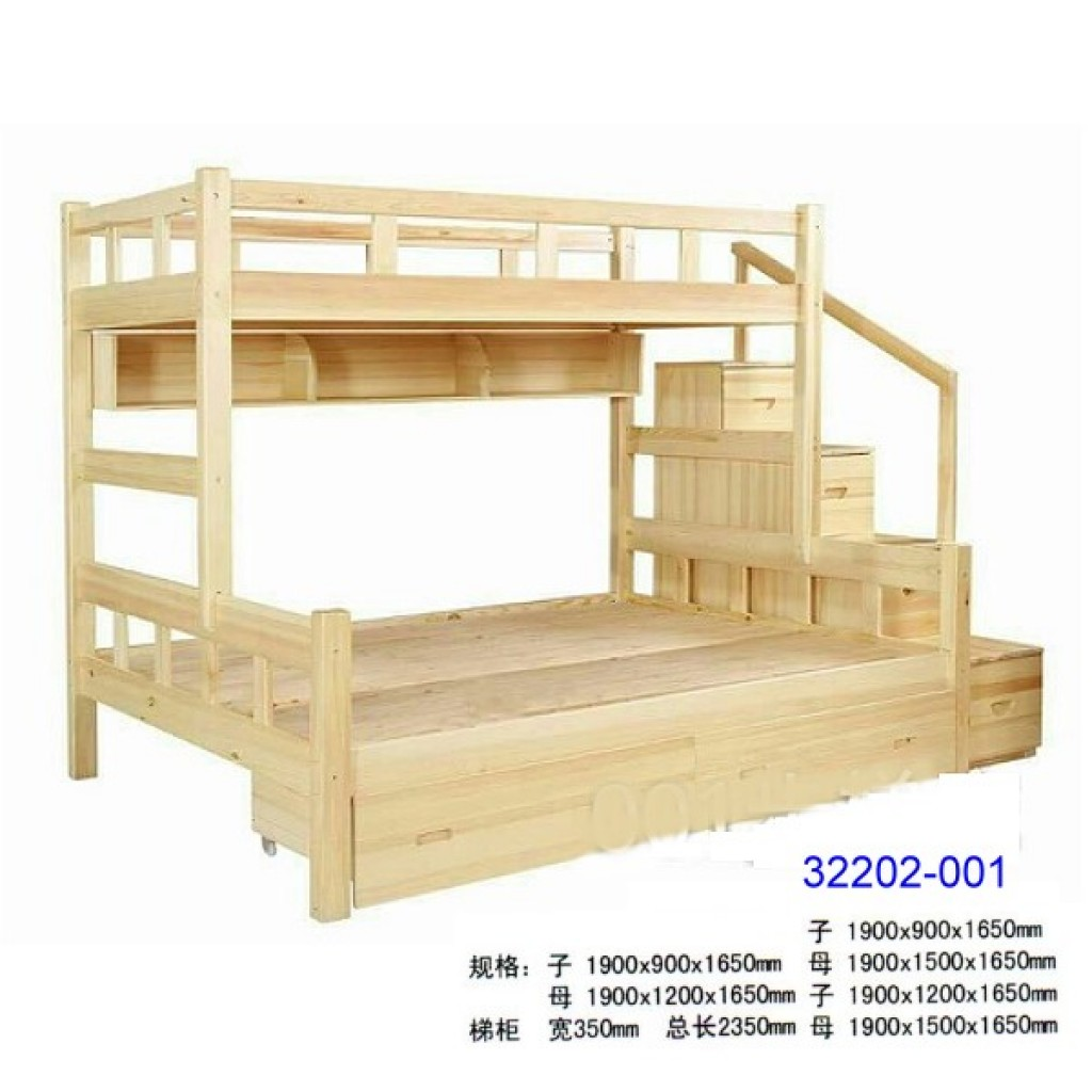 32202-001 Wooden children bunk bed
