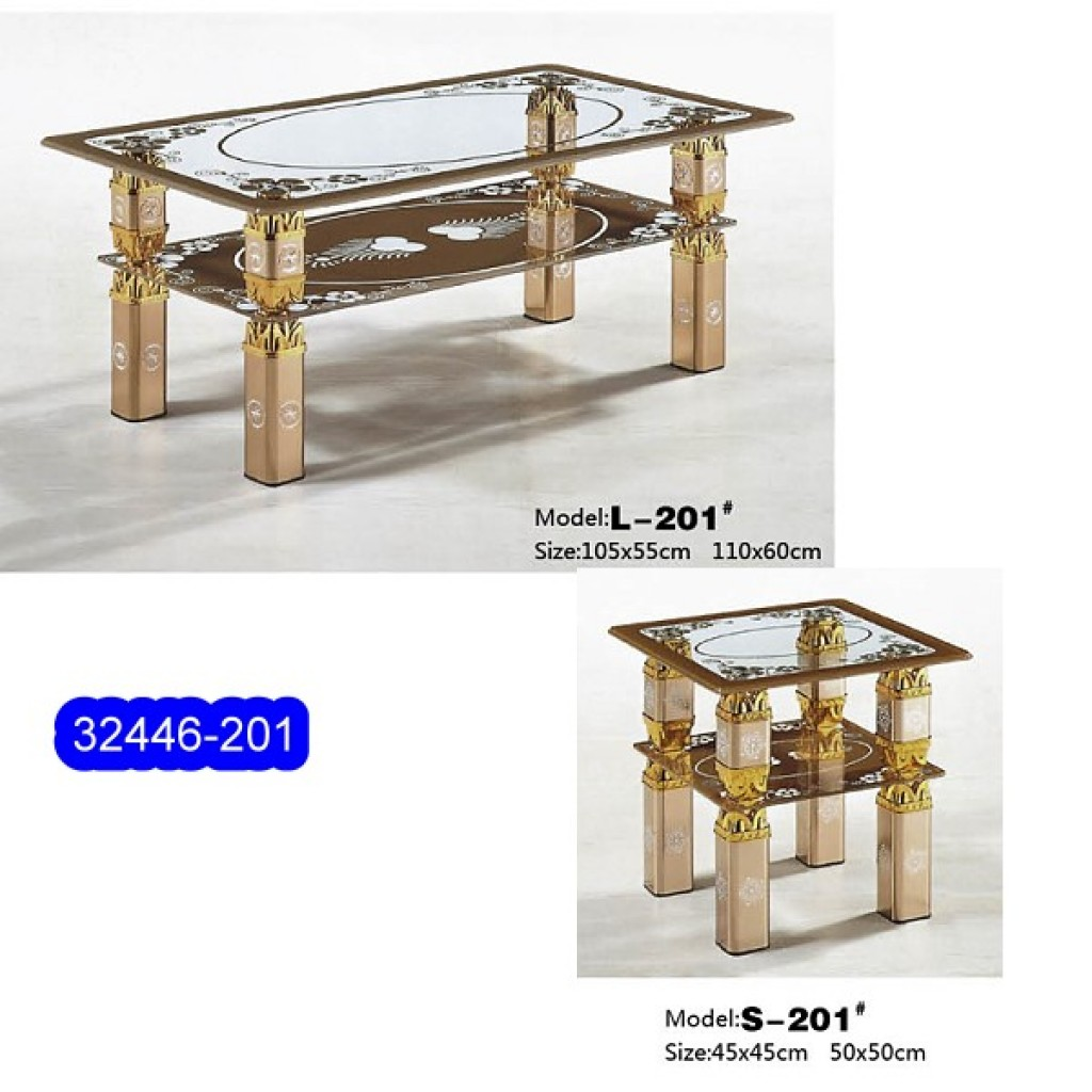 32446-201L/S Glass Coffee Table