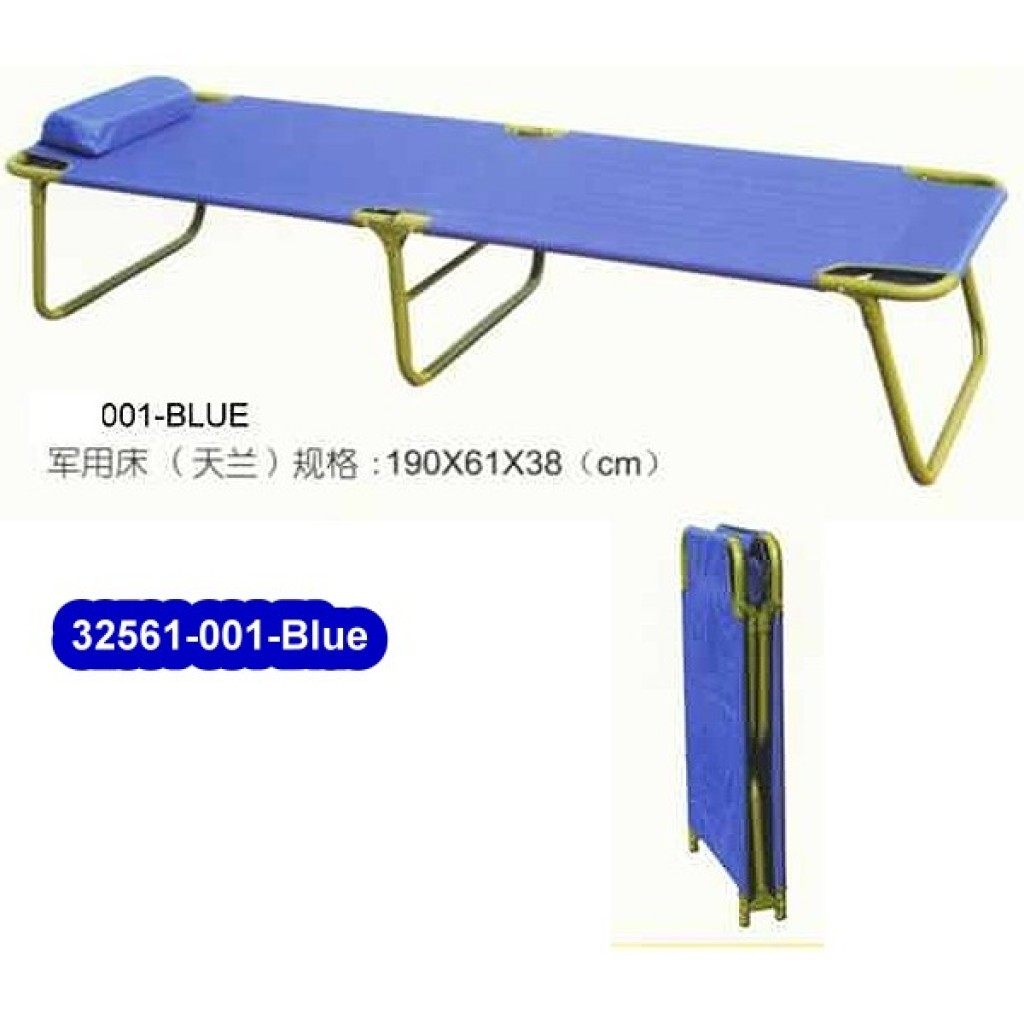 32561-001-Blue  Metal Folding Bed