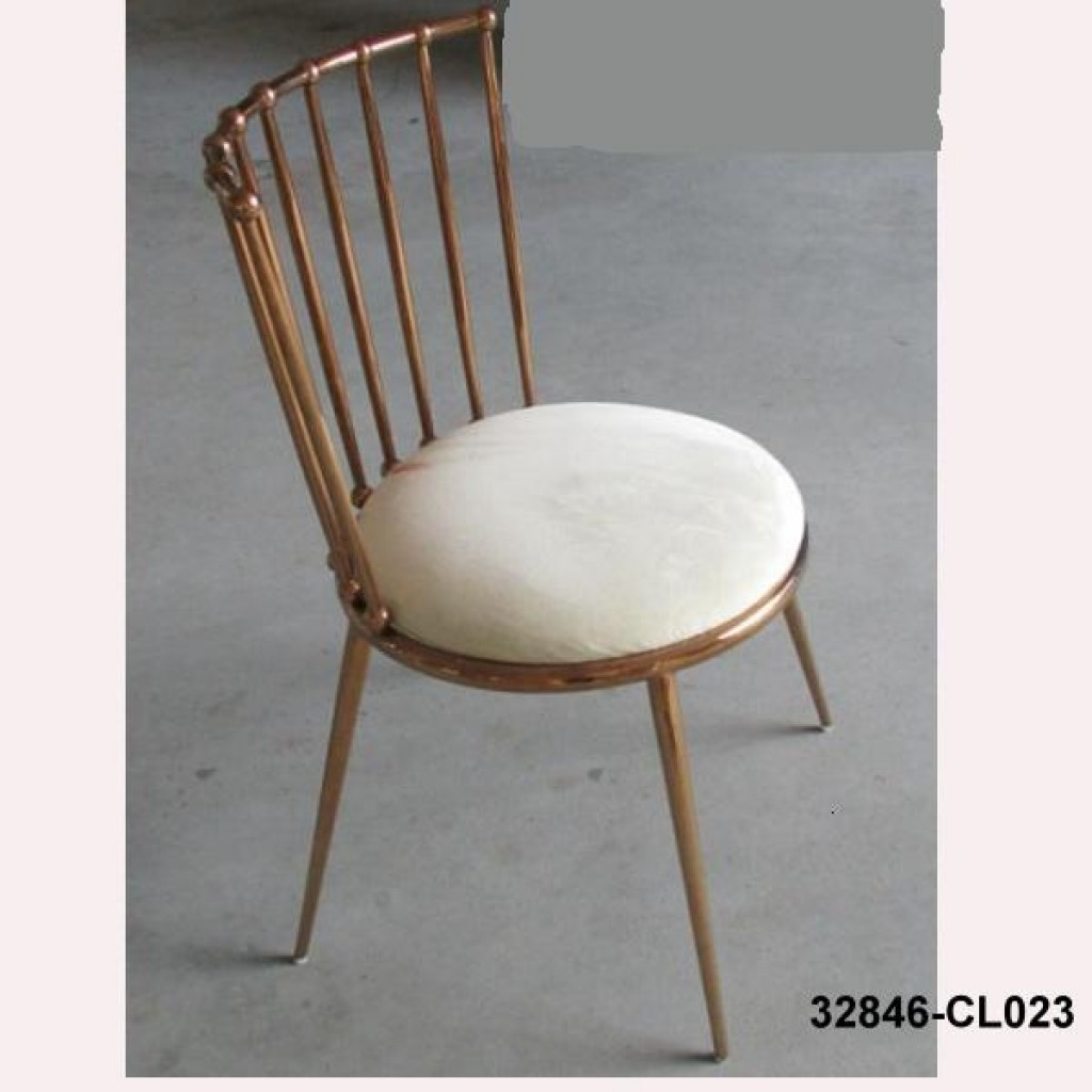 32846-CL023 stainless steel dining chair