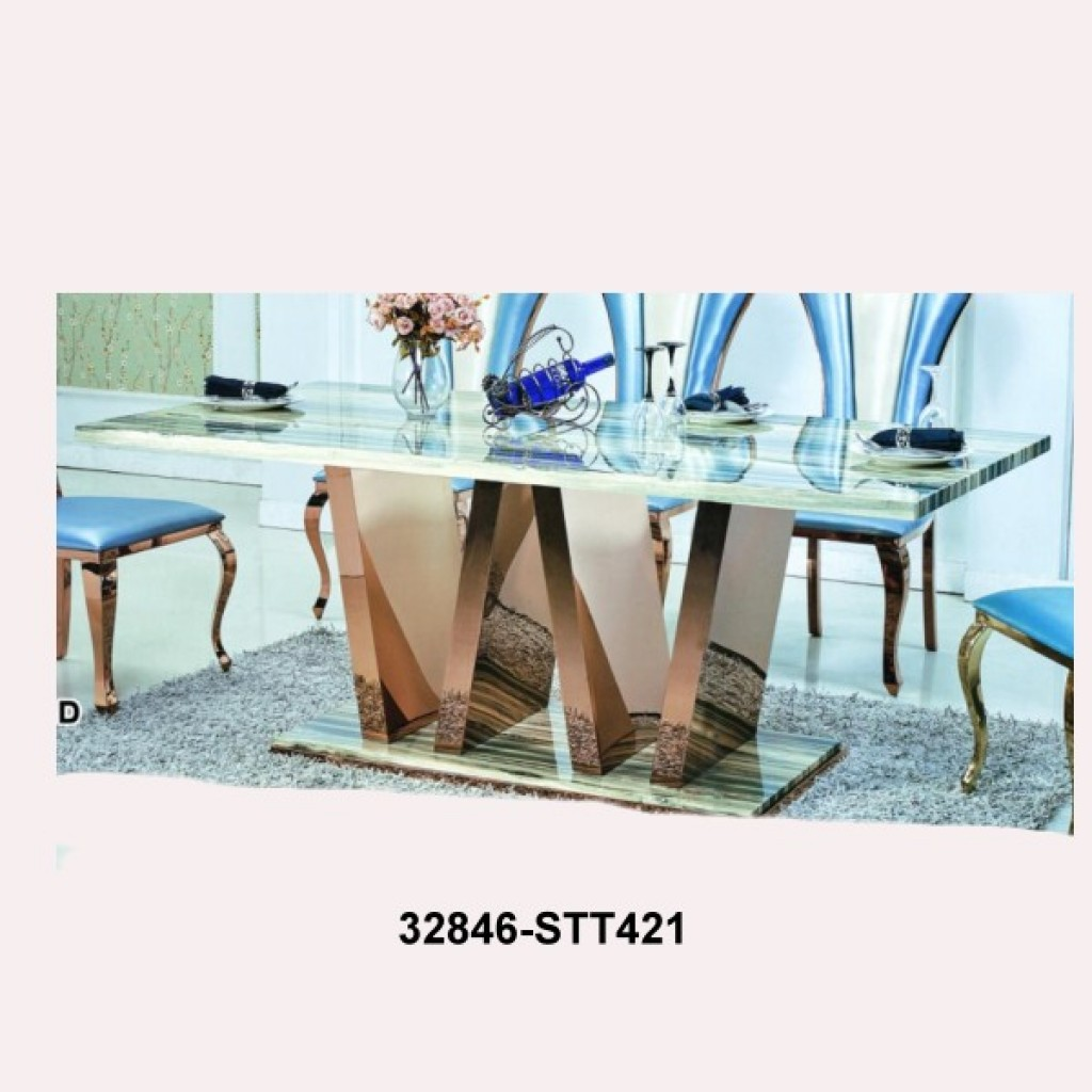 32846-STT421 dining table marble
