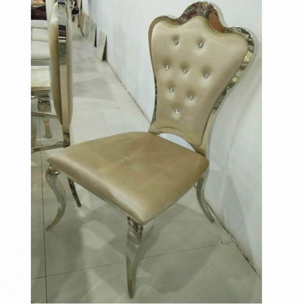 32907-CY-002 Stainless Steel  Dining Chair