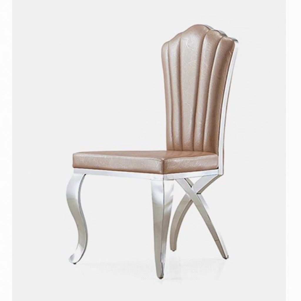 32907-CY-005 Stainless Steel  Dining Chair