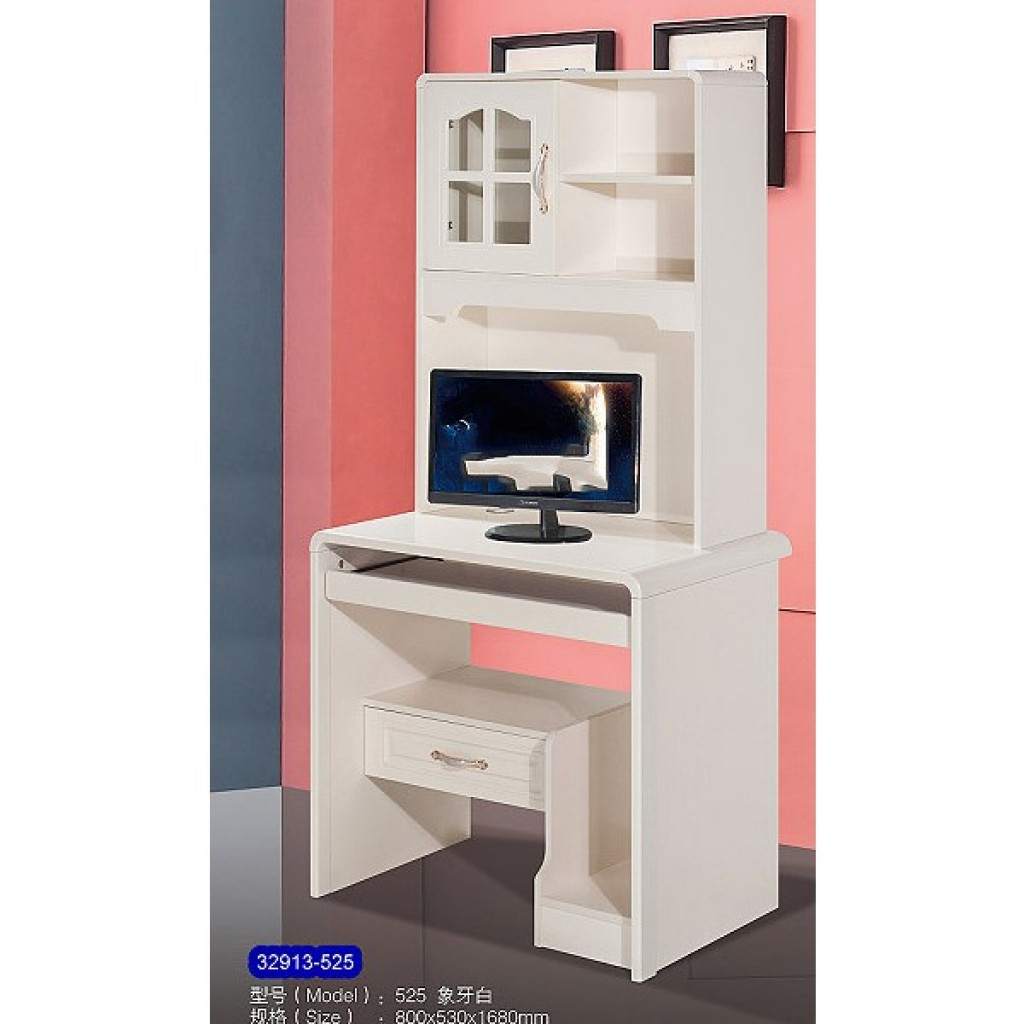 32913-525 Wooden desk & bookshelf cabinet