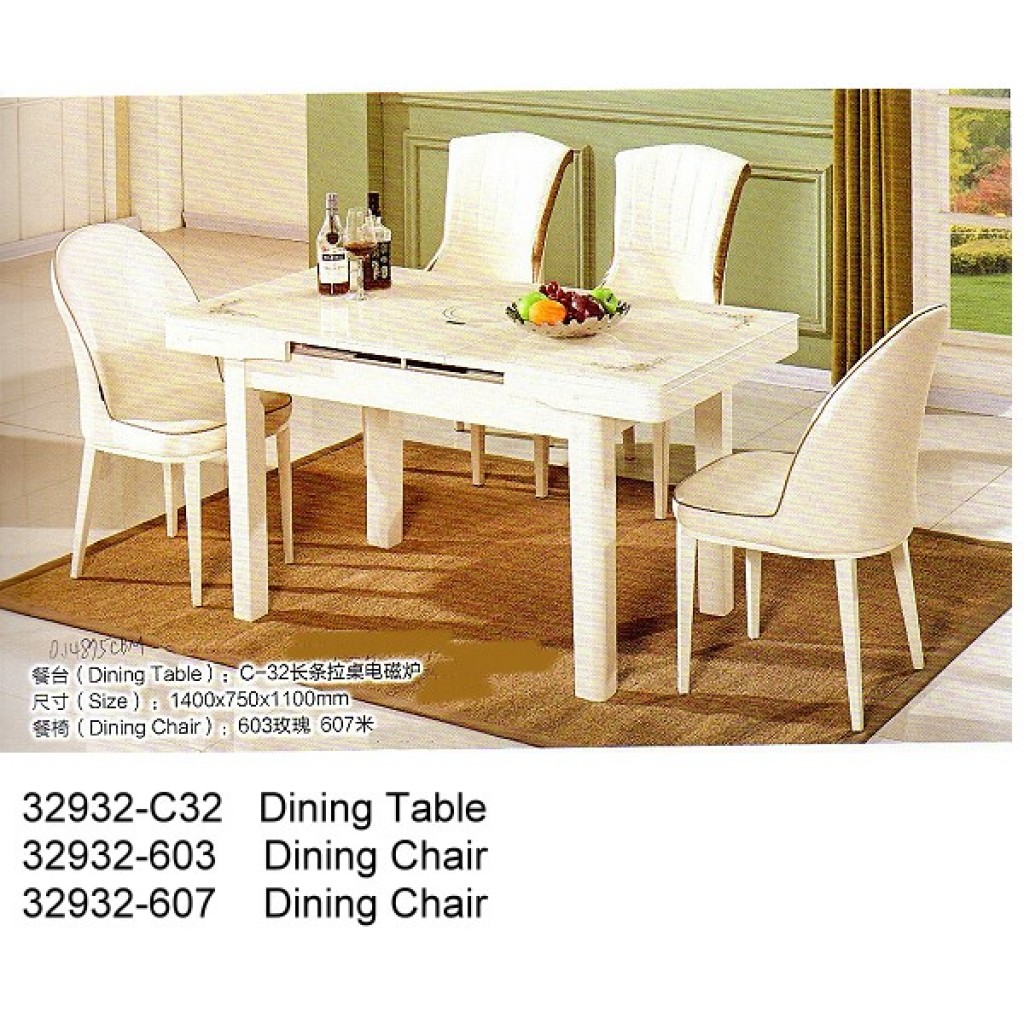 32932-C32-603/607 Wooden Dining Set