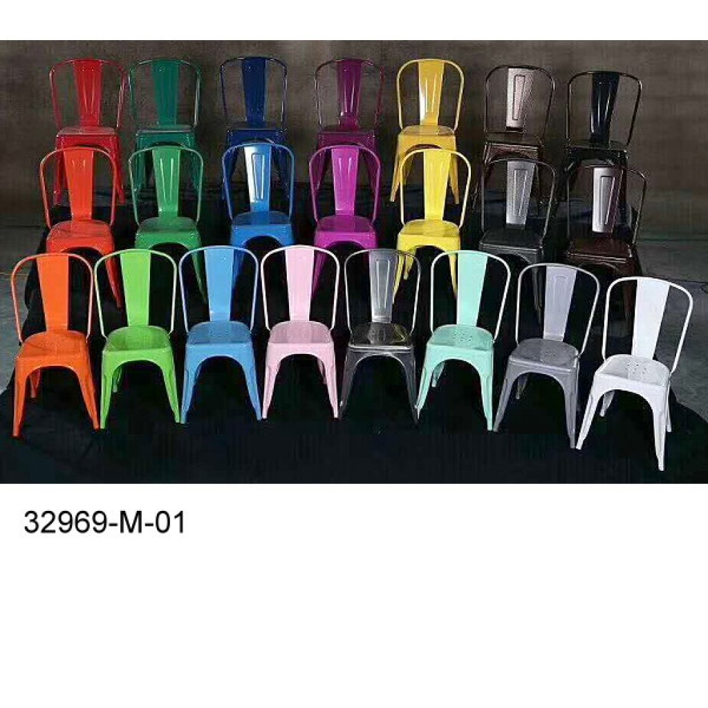32969-M-01  Metal frame dining chair