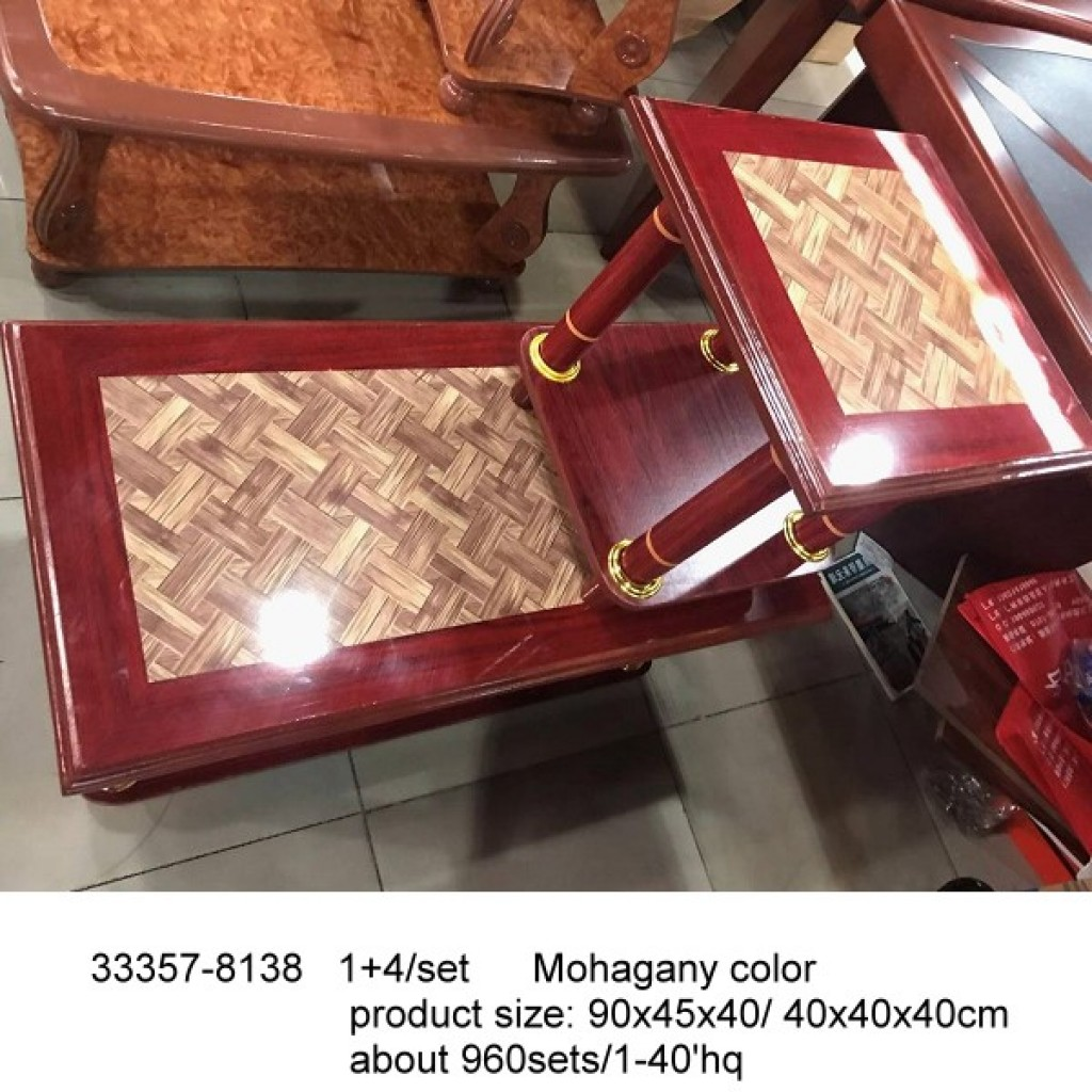 33357-8038  1+4/set wooden coffee table