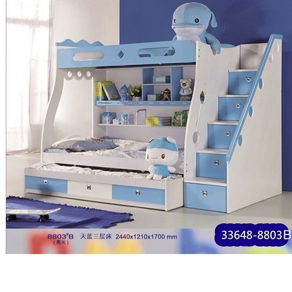 33648-8803B Wooden Children Bunk Bed