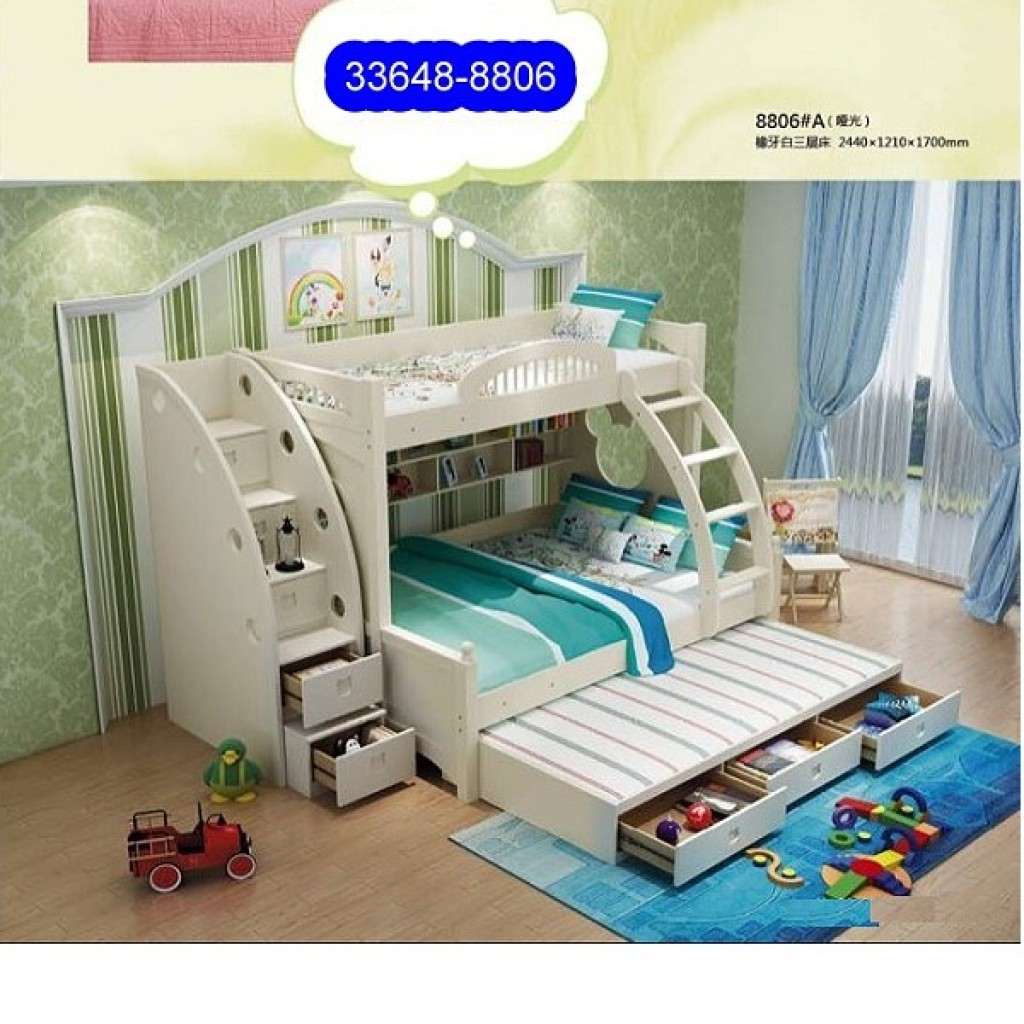 33648-8806 Wooden Children Bunk Bed