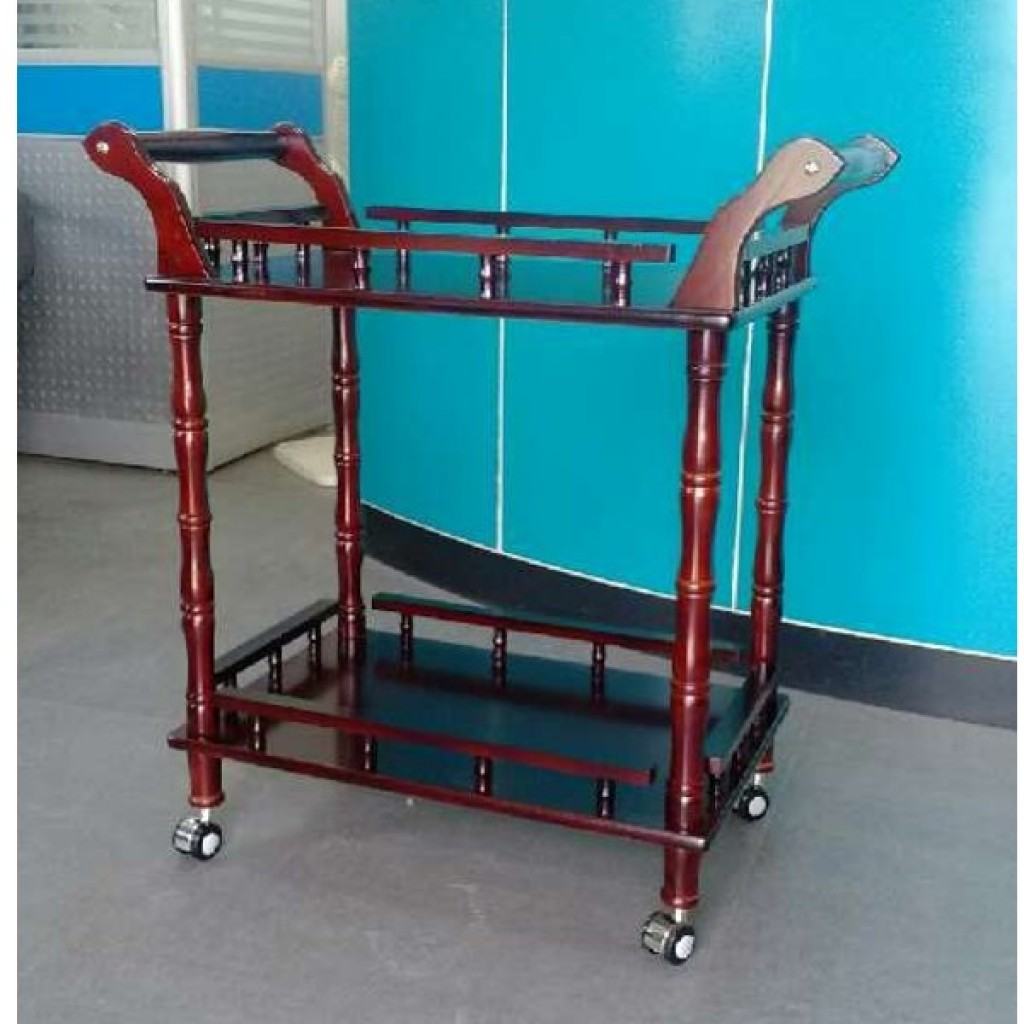 33837-3787 Wooden Tea Trolley