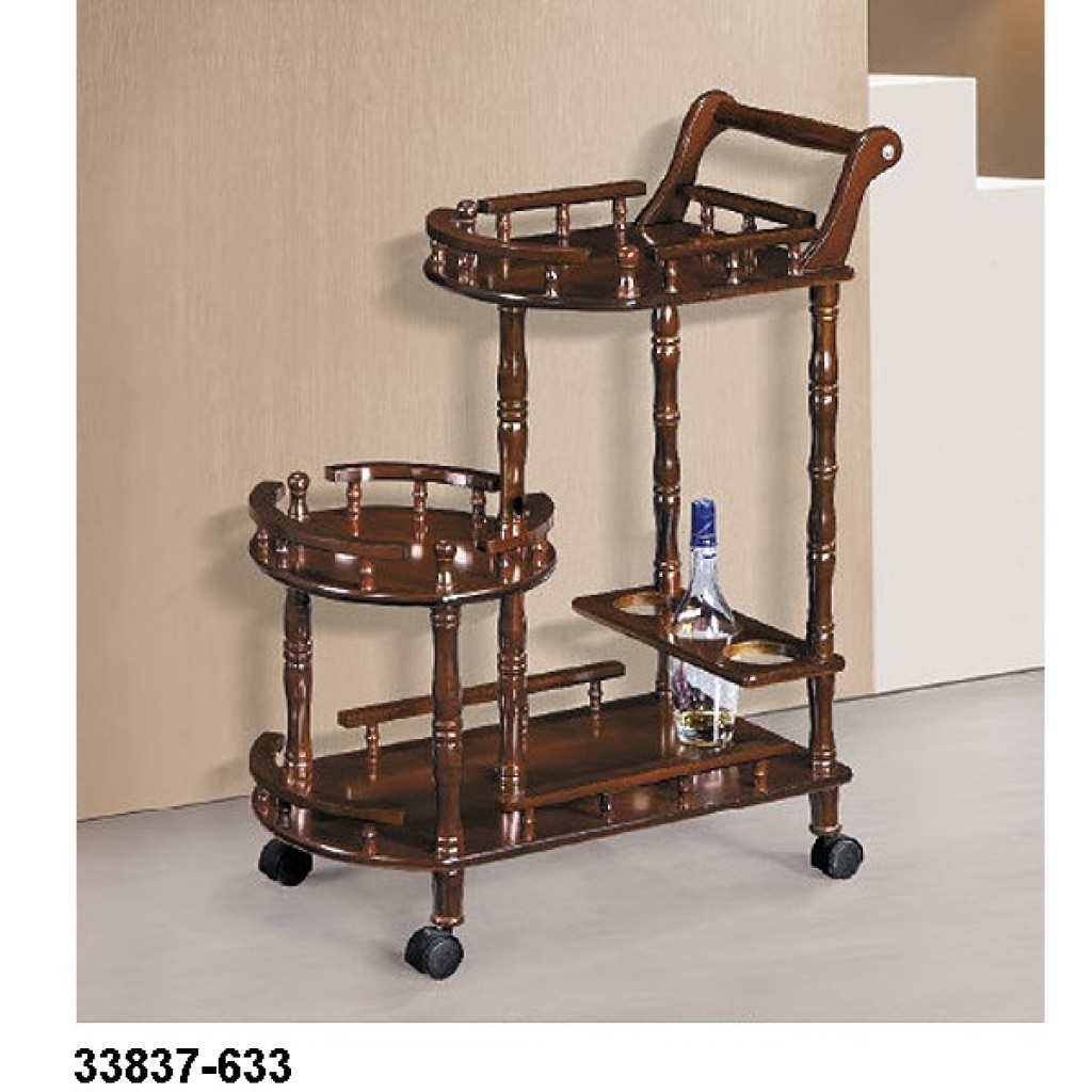 33827-633 Wooden Tea Trolley