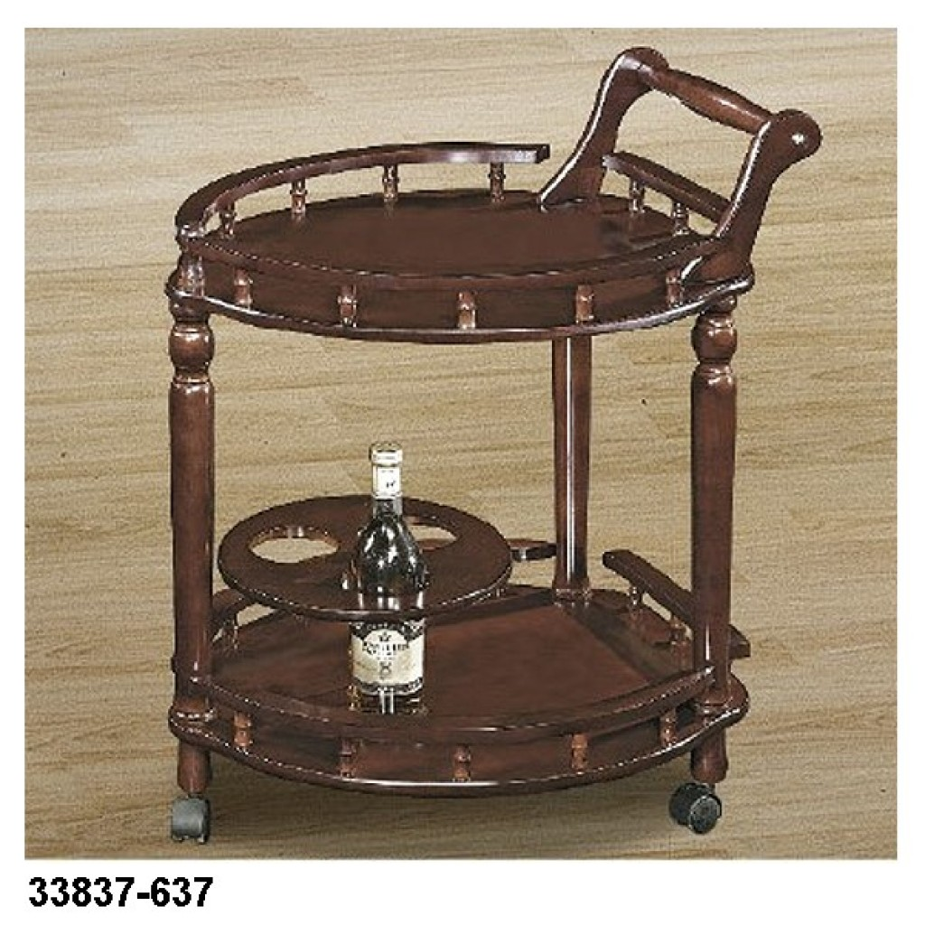 33827-637 Wooden Tea Trolley