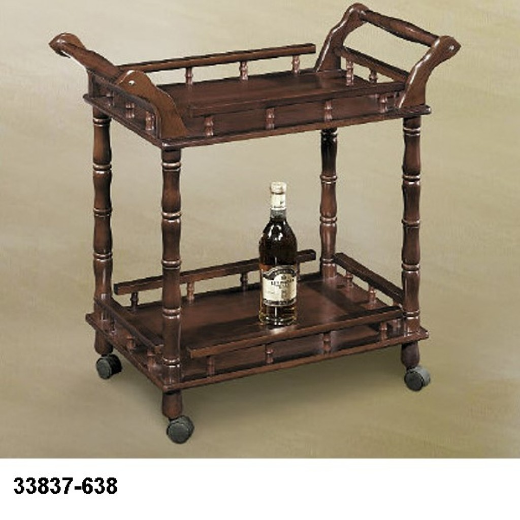 33827-638 Wooden Tea Trolley