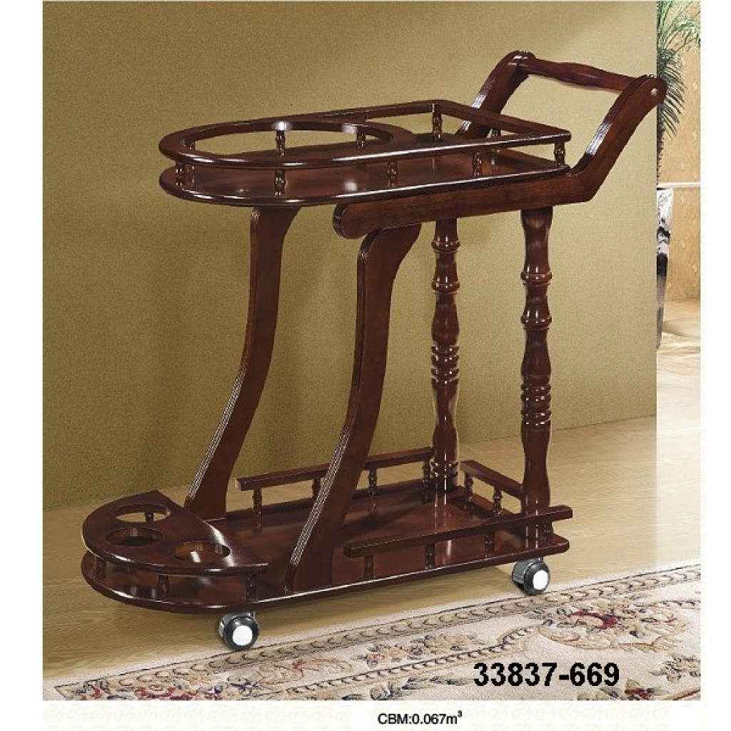 33827-669 Wooden Tea Trolley
