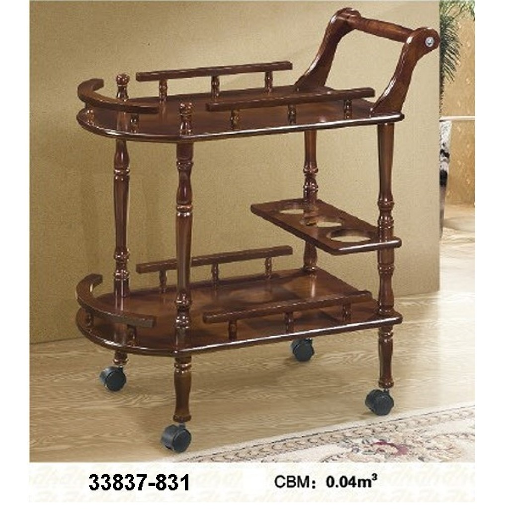 33827-831 Wooden Tea Trolley