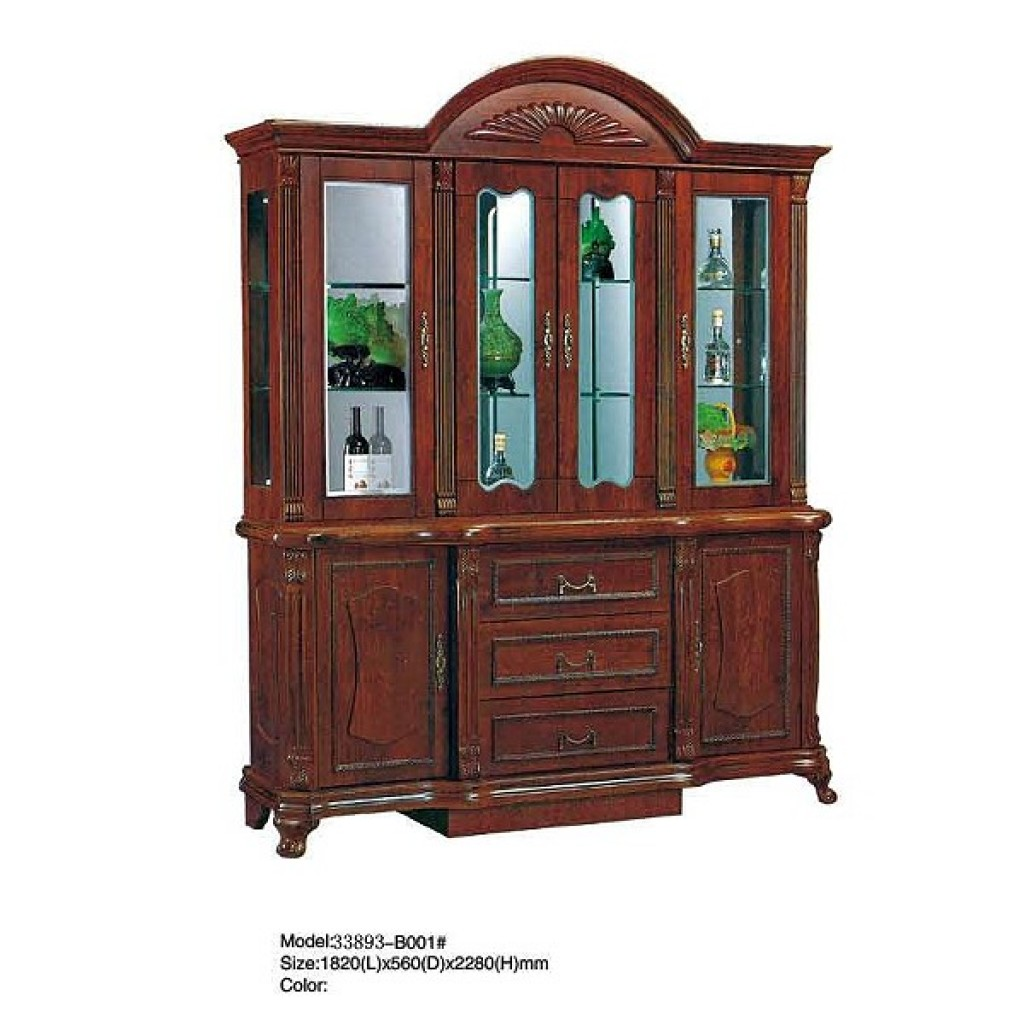 33893-B001  Wooden Hutch & Buffet