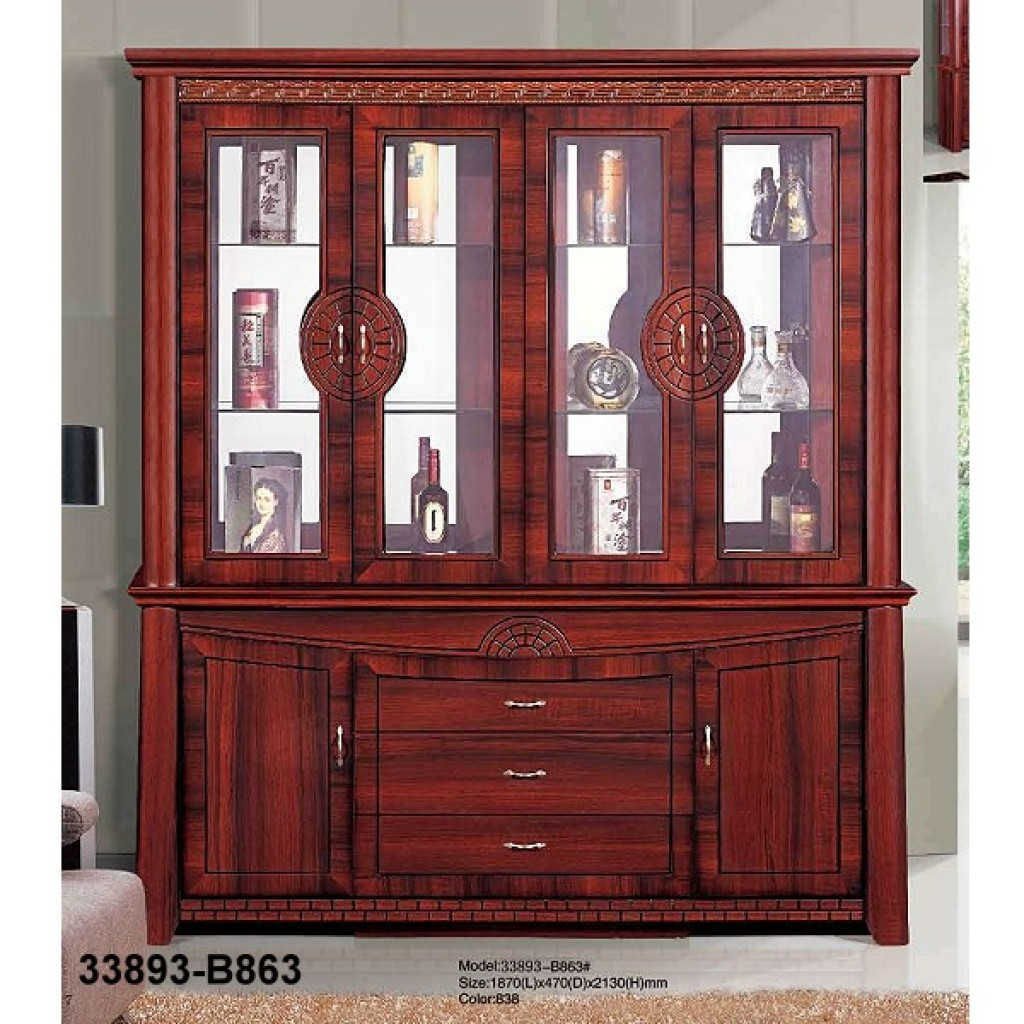 33893-B863 Wooden Hutch & Buffet