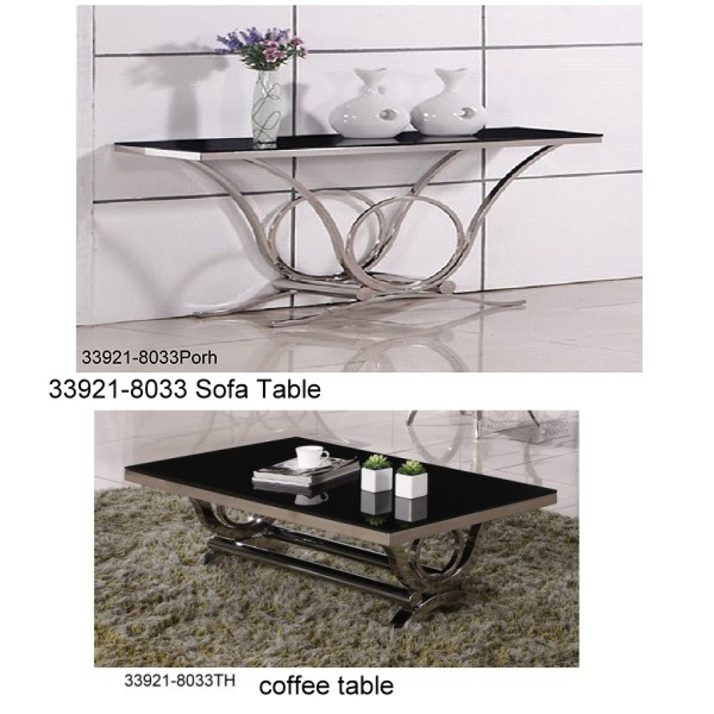 33921-8033 Stainless Steel Coffee Table Set