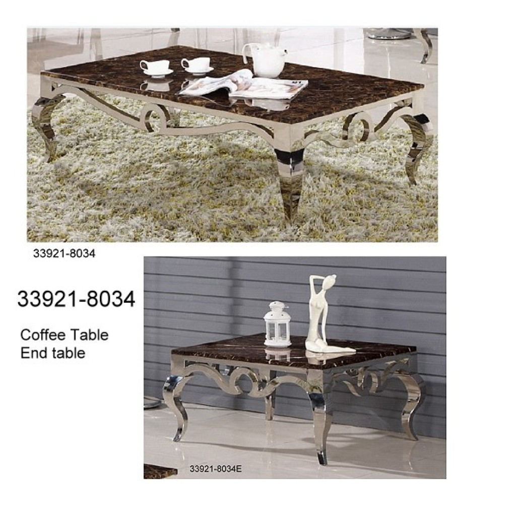 33921-8034 Stainless Steel Coffee Table Set