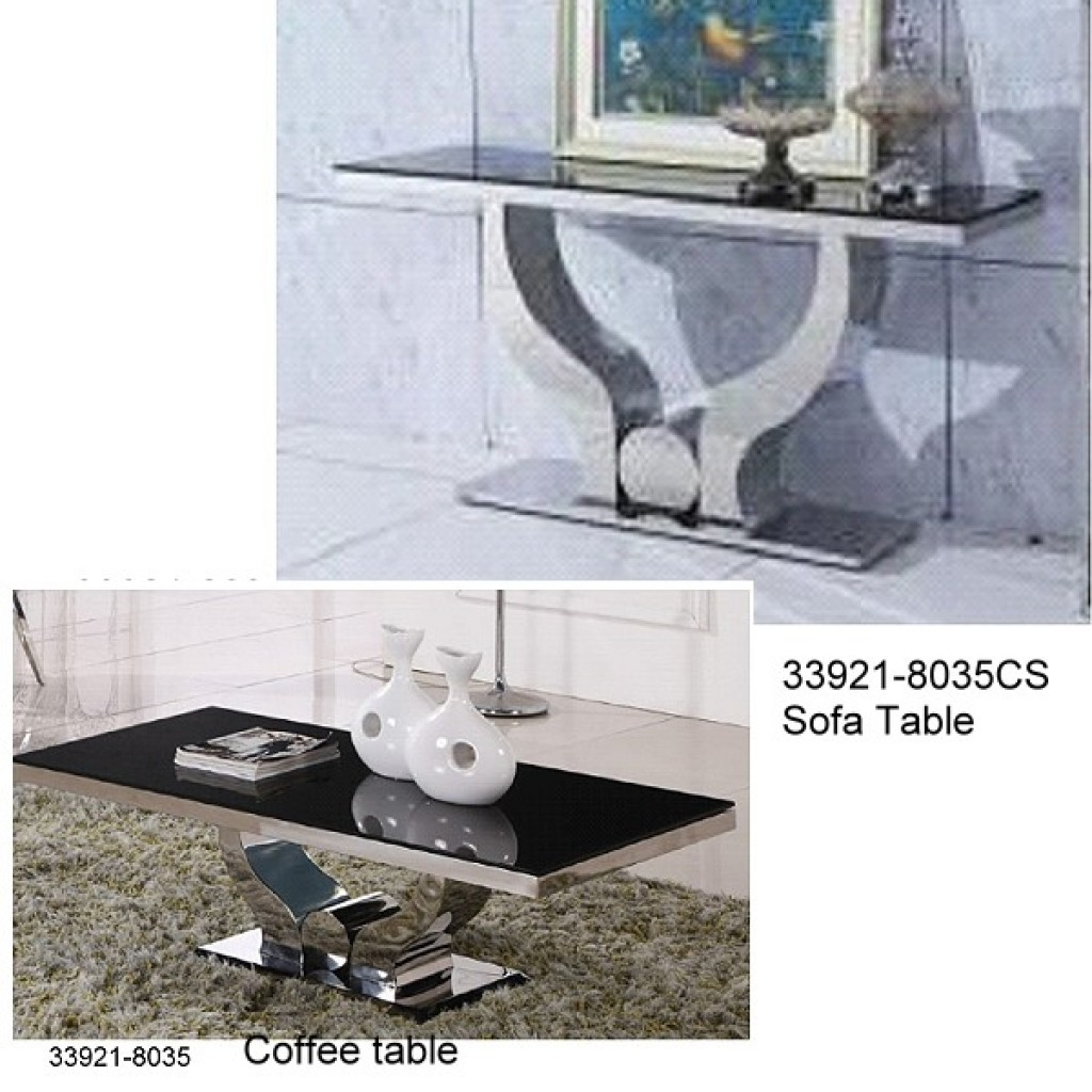 33921-8035 Stainless Steel Coffee Table Set