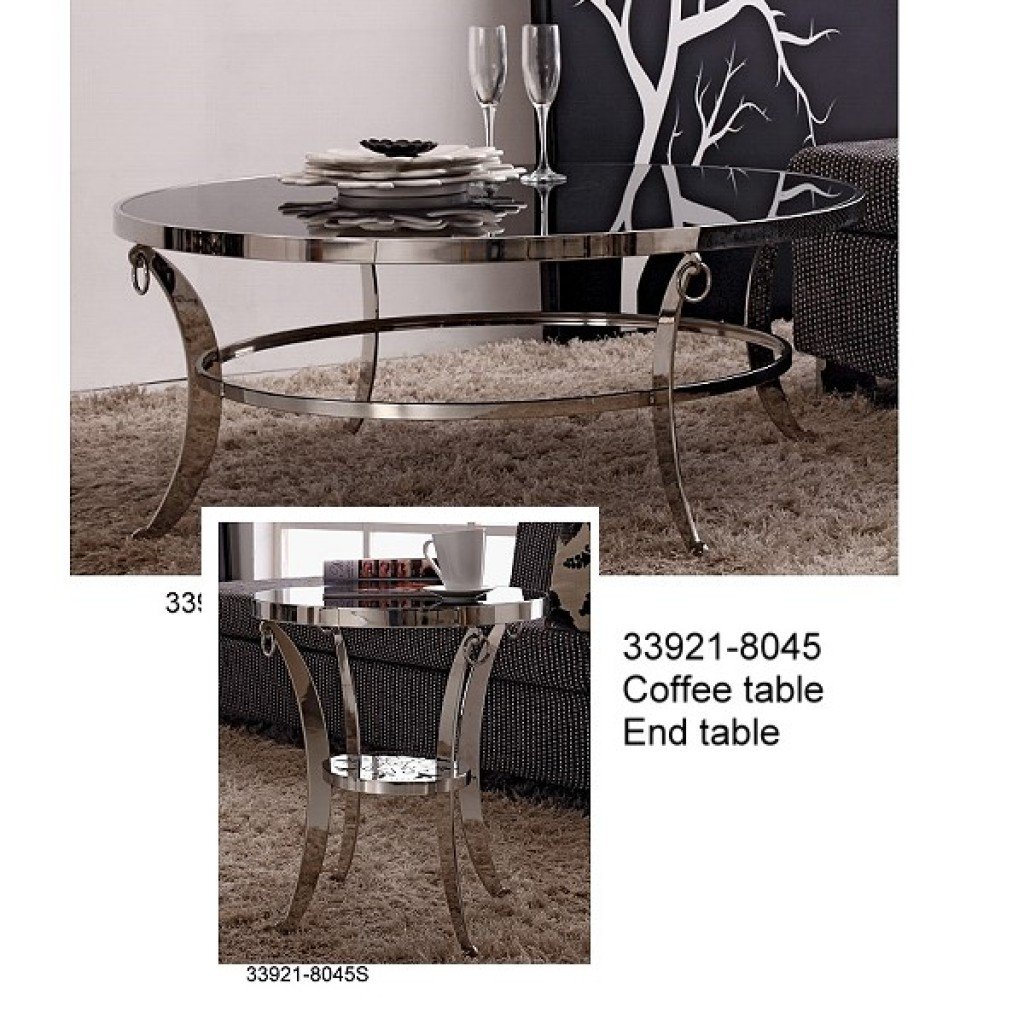 33921-8045 Stainless Steel Coffee Table Set
