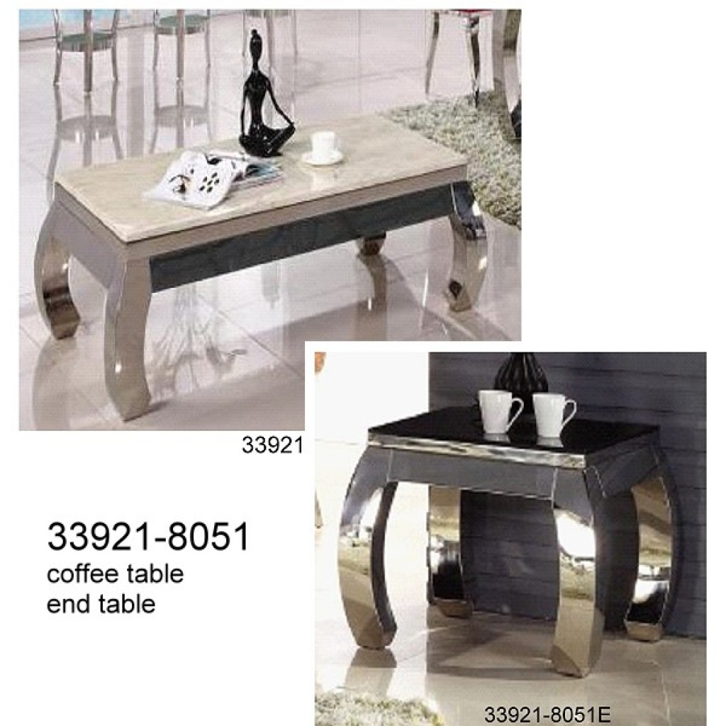 33921-8051  Stainless Steel Coffee Table set