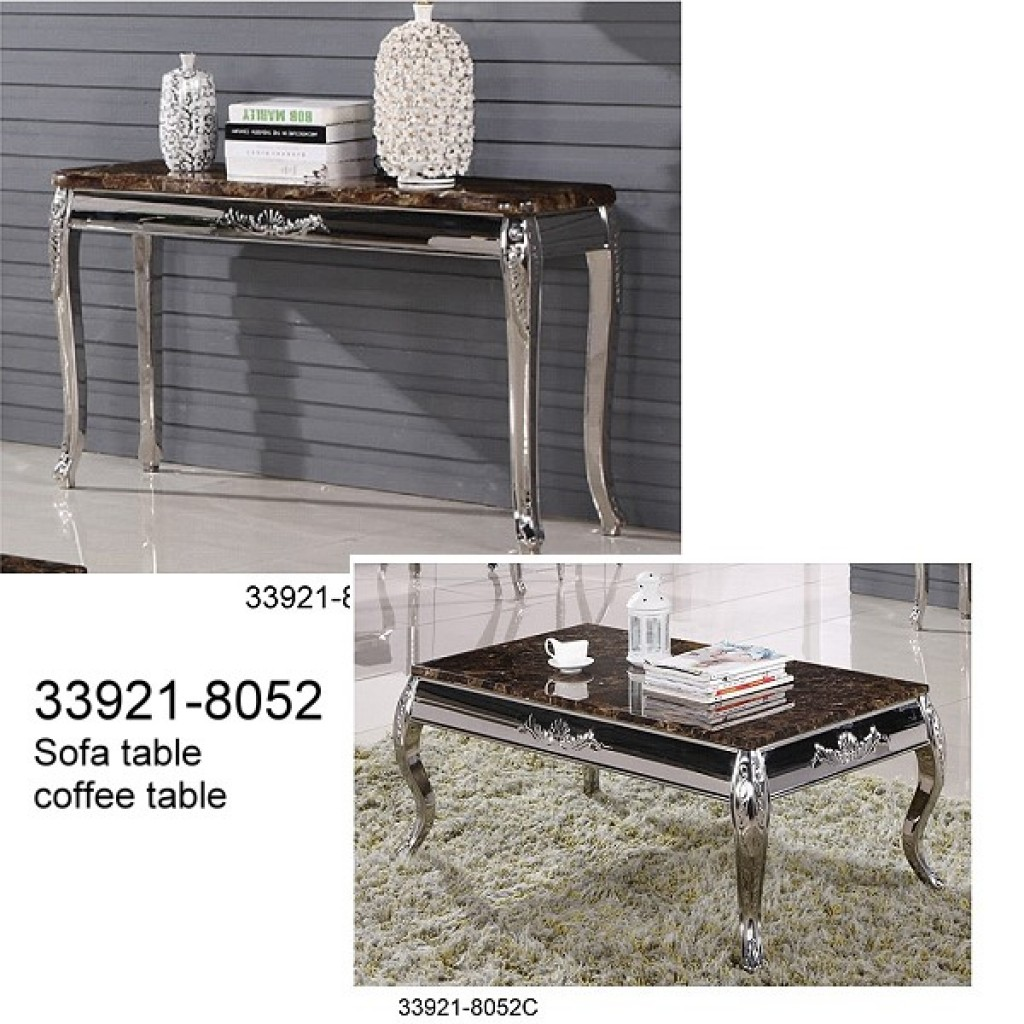 33921-8052 Stainless Steel Coffee Table set