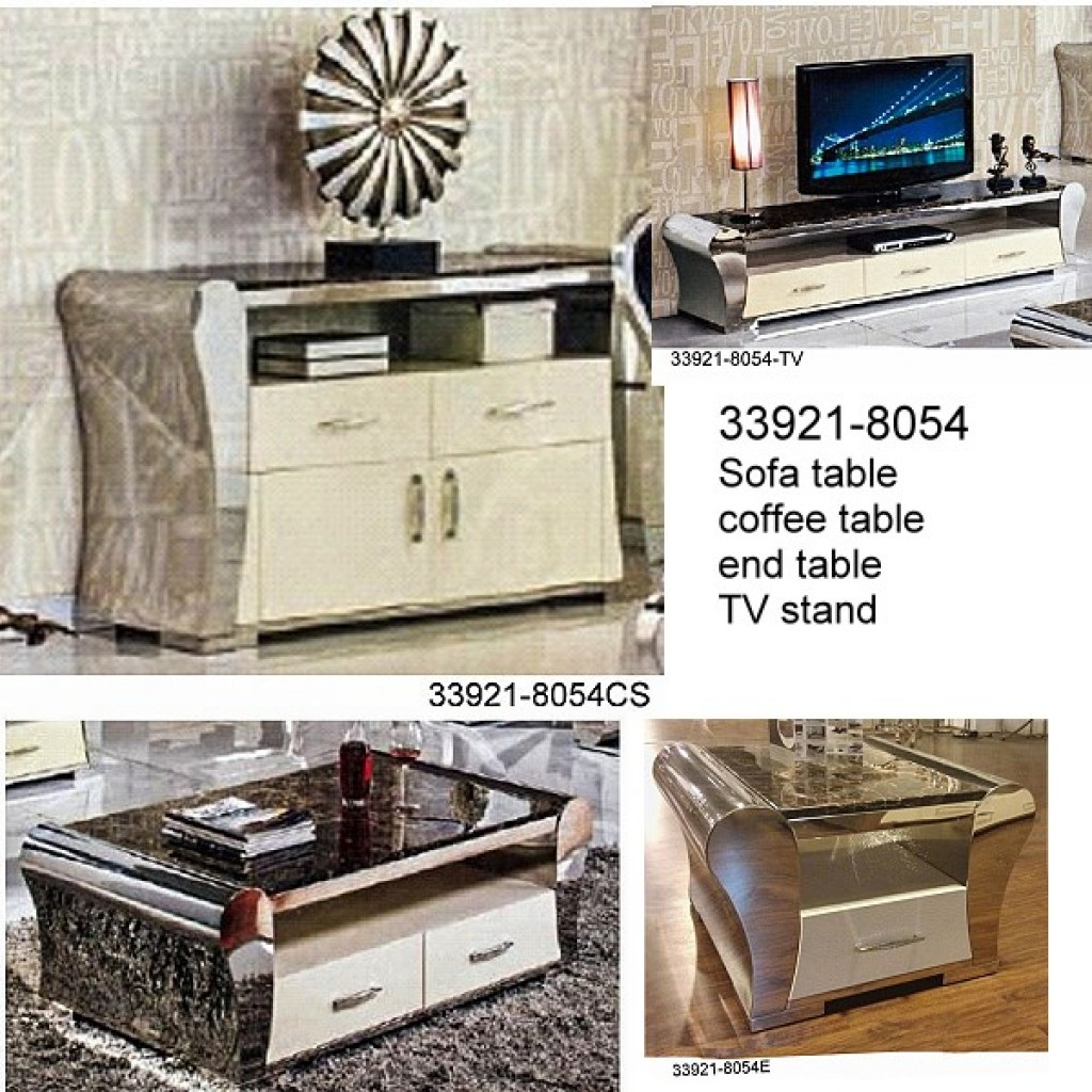 33921-8054 Stainless Steel Coffee Table Set