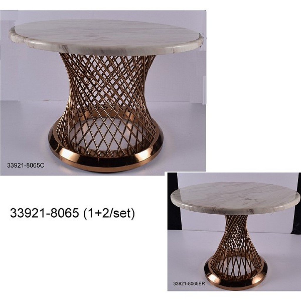 33921-8065 Stainless Steel Coffee Table Set