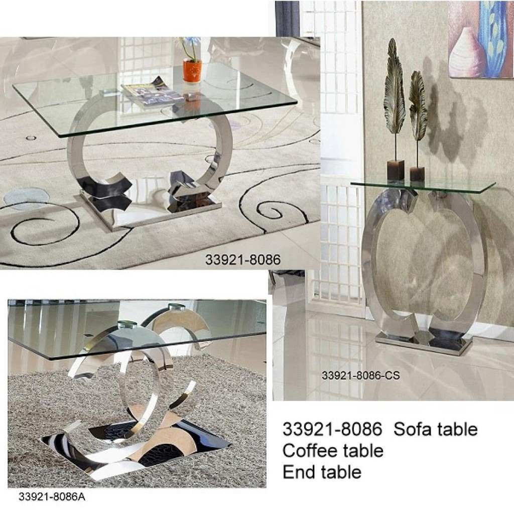33921-8086 Stainless Steel Coffee Table