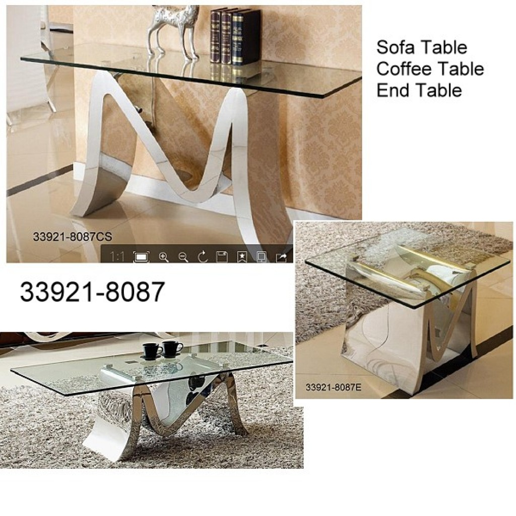 33921-8087 Stainless Steel Coffee Table Set