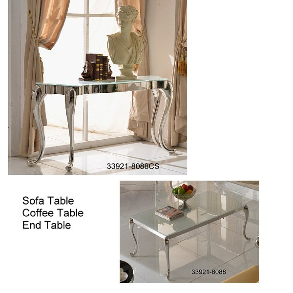 33921-8088 Stainless Steel Coffee Table set