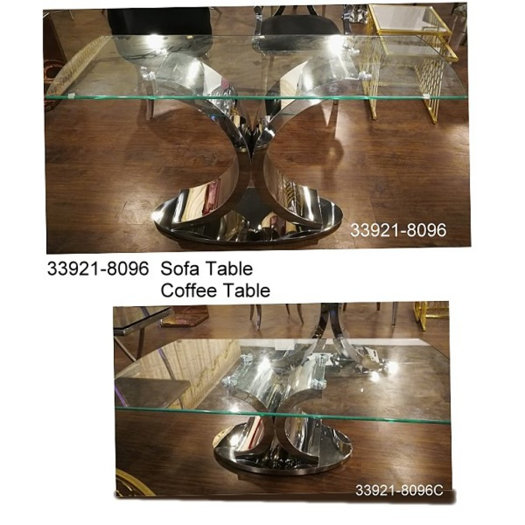 33921-8096  Stainless Steel Coffee Table set