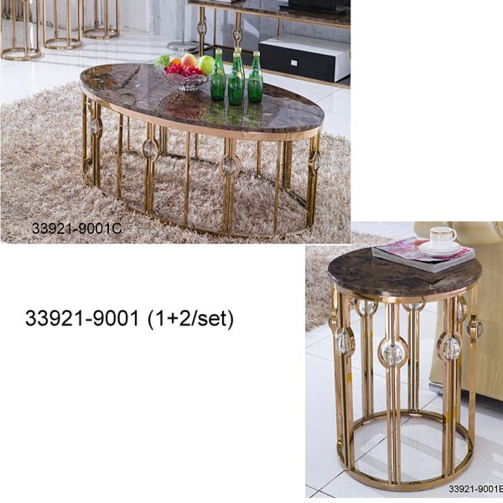 33921-9001 Stainless Steel Coffee Table set
