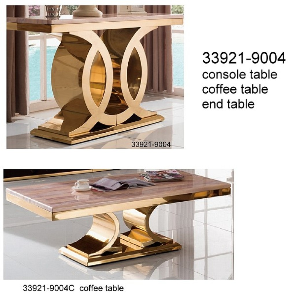 33921-9004 Stainless Steel Coffee Table set
